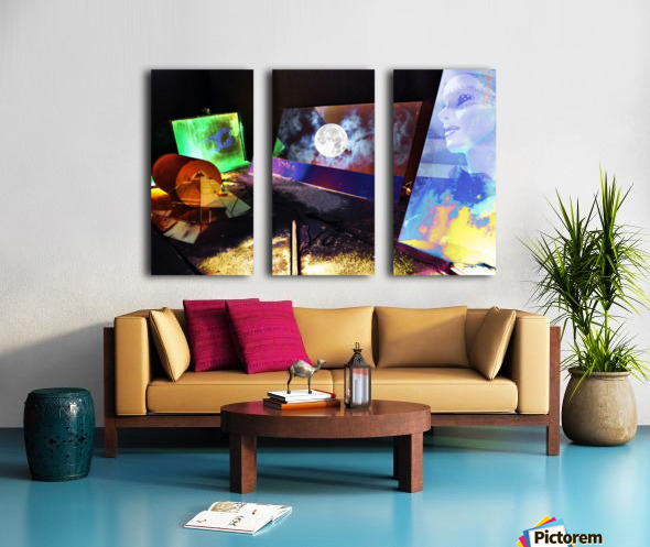 Mysterious Night Split Canvas print