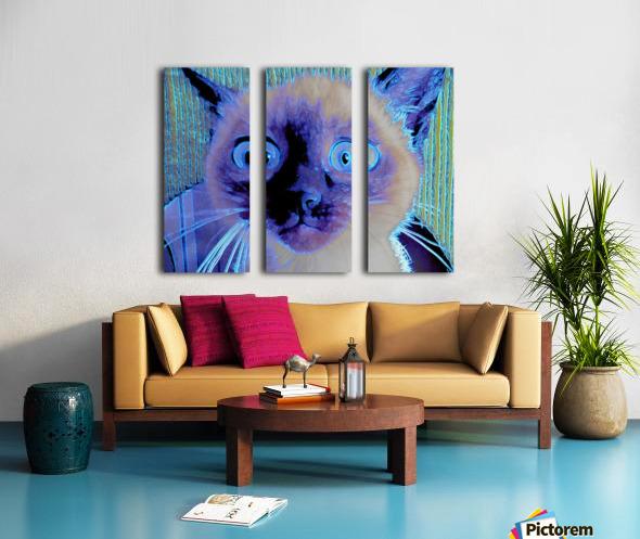 electric kitty Split Canvas print