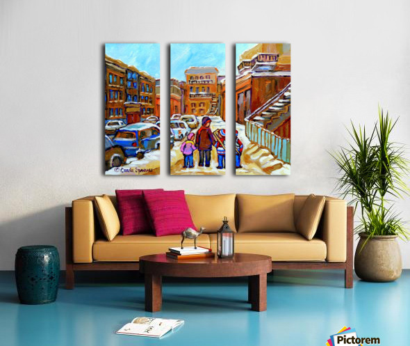 BEAUTIFUL DAY FOR A WALK IN MONTREAL Split Canvas print