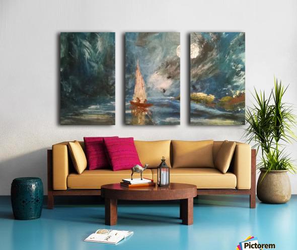 lost boat Split Canvas print