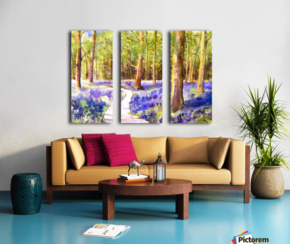 Bluebell Wood  Split Canvas print