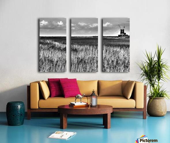 Marsh windmill Split Canvas print