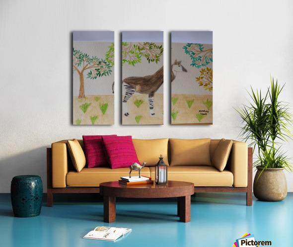 Okapi Split Canvas print