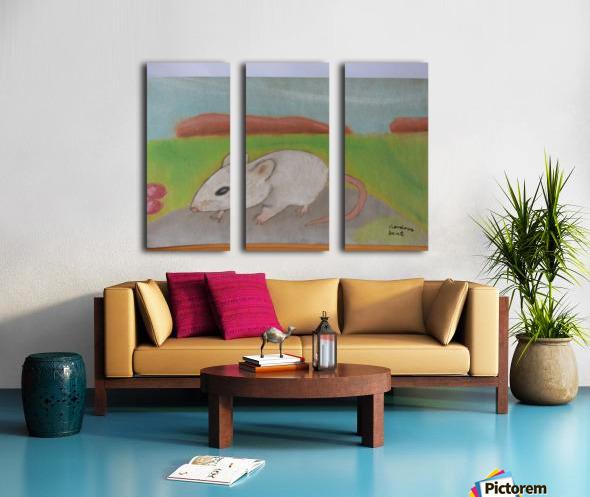 White mouse Split Canvas print