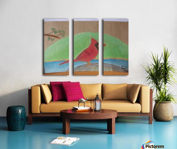 Red Cardinal  Split Canvas print