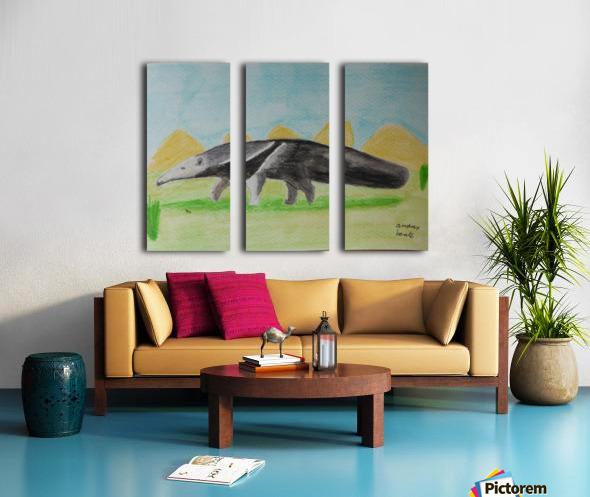 Anteater Split Canvas print