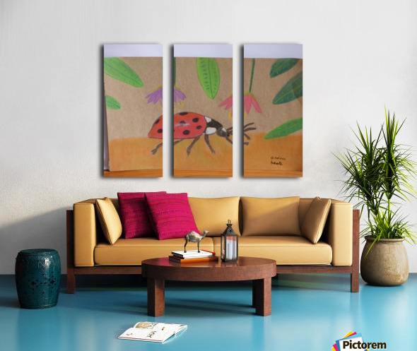 Ladybug Split Canvas print