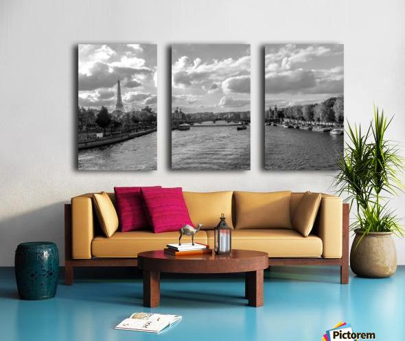 Paris je t'aime! Split Canvas print