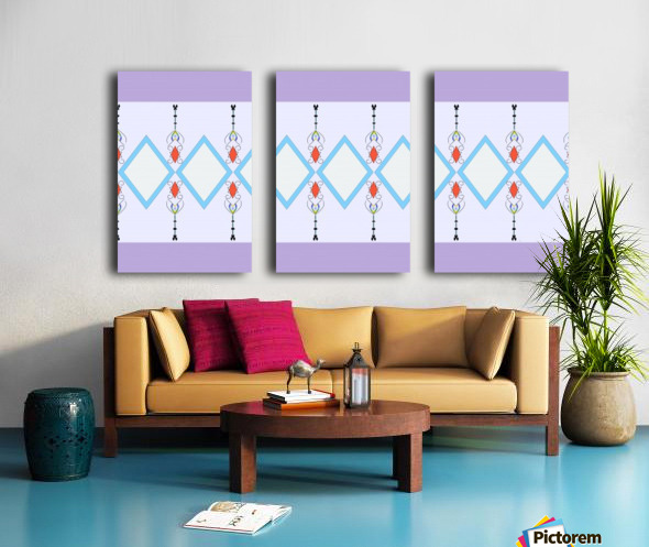 Pastel Pattern 1 Split Canvas print