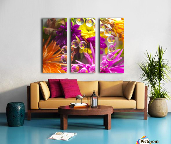 FLOWERS REFRACTION 13 Split Canvas print