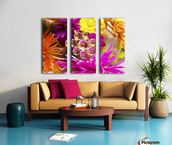 FLOWERS REFRACTION 9 Split Canvas print