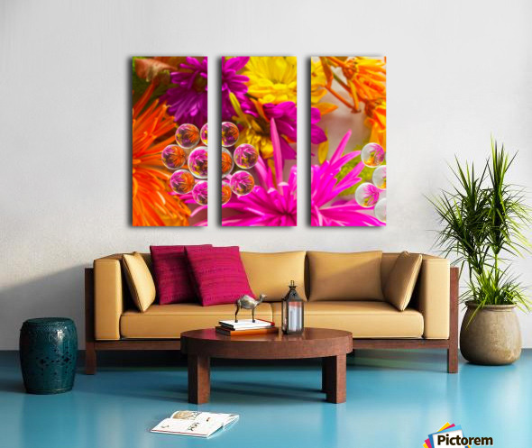 FLOWERS REFRACTION 10 Split Canvas print