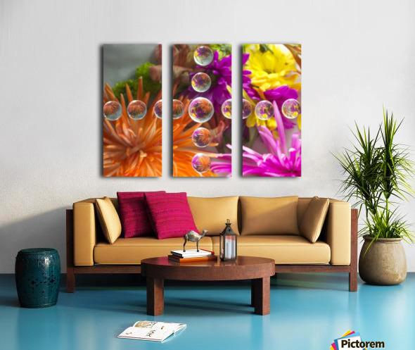 FLOWERS REFRACTION 16 Split Canvas print