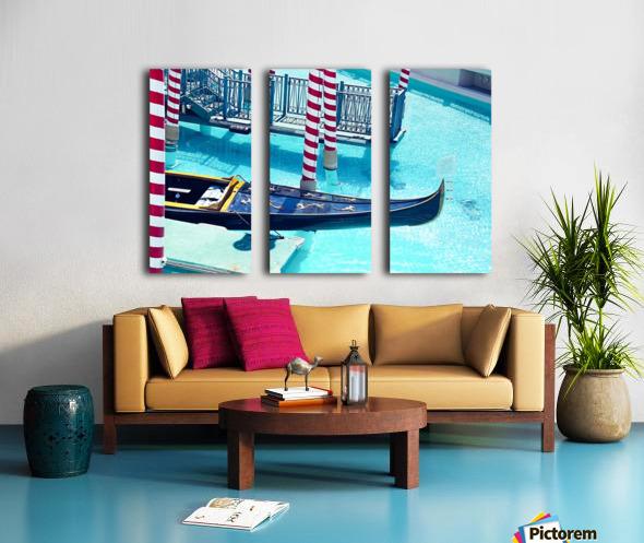 Classic Gondola boat and blue water Split Canvas print