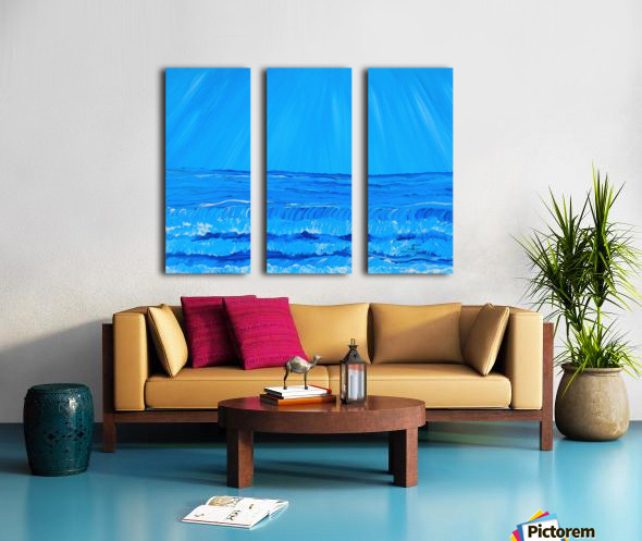 27_027 waves R Split Canvas print