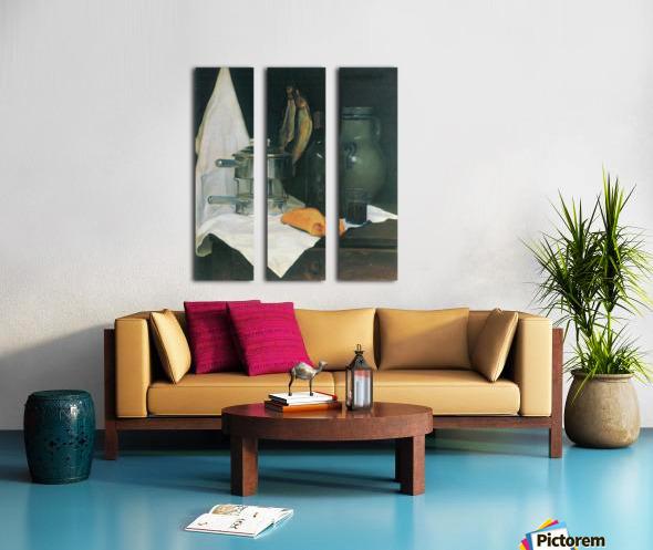 Still Life with Herrings by Felix Vallotton Split Canvas print