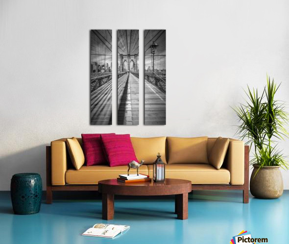 NEW YORK CITY Brooklyn Bridge Split Canvas print