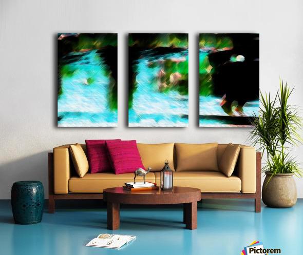Bergischwasser Split Canvas print