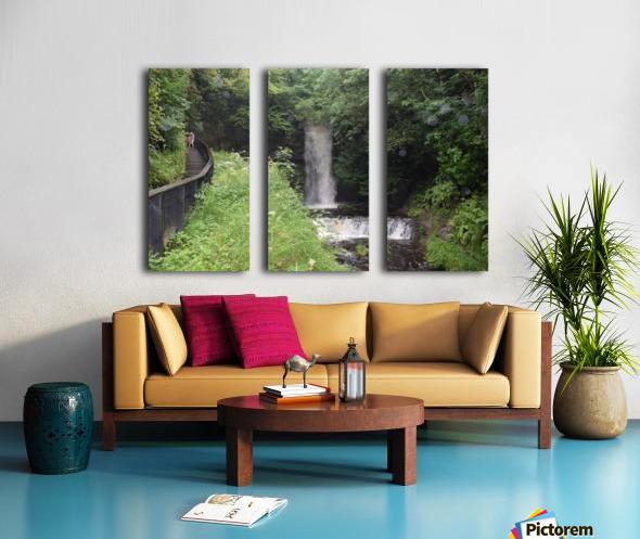 GLENCAR WATERFALL Split Canvas print