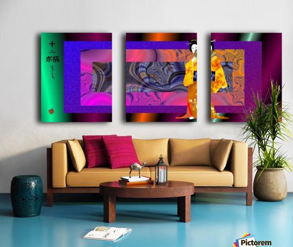 geishaYellowWith Split Canvas print
