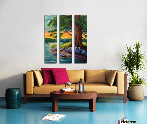 Guardian of the Bend Split Canvas print