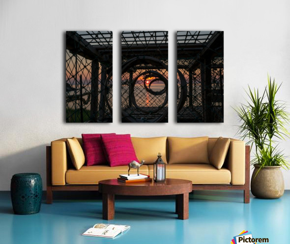 Trapped Sunset Split Canvas print