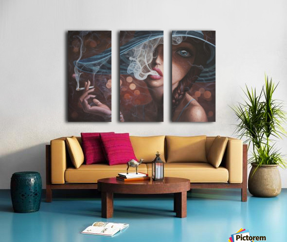 Enter The Void Split Canvas print