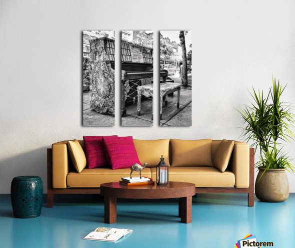 Street Piano Split Canvas print
