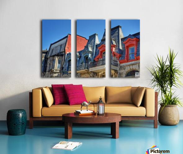 Montreal Rooftops Split Canvas print