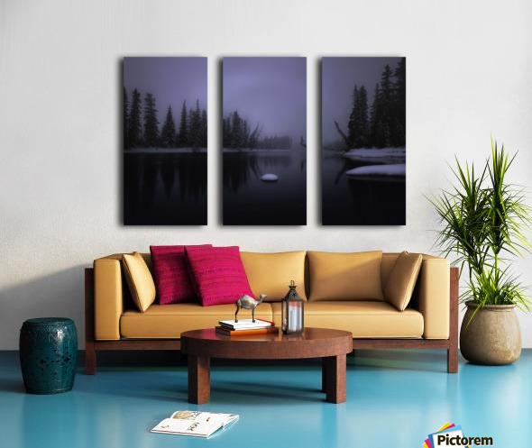 Winter Bow River Split Canvas print