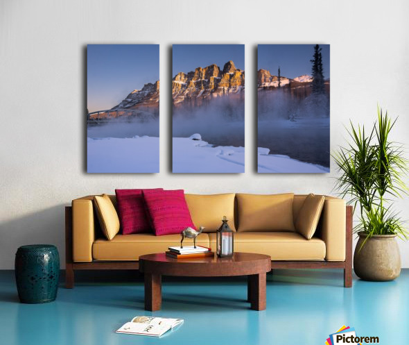 Castle morning Split Canvas print