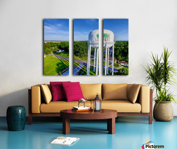 Lonoke, AR | Water Tower Split Canvas print