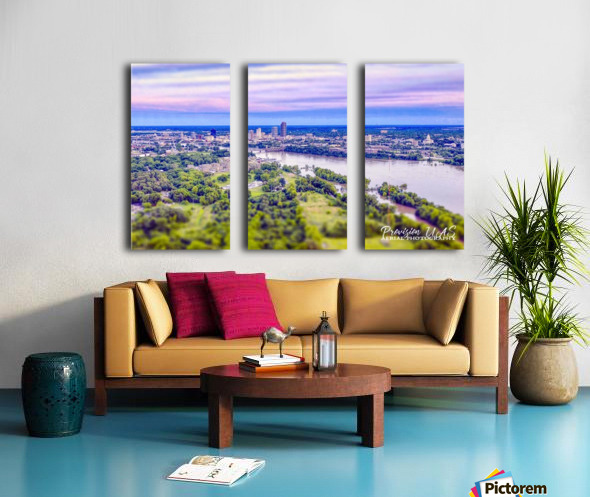 Little Rock, AR | Skyline Split Canvas print