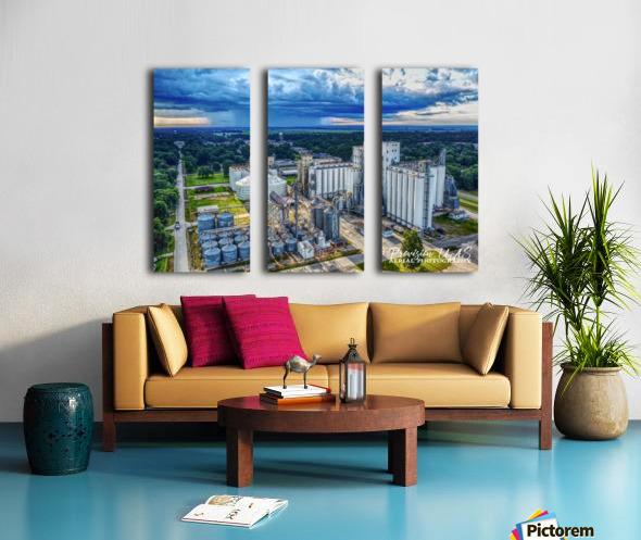 Lonoke, AR | Early morning Virga Split Canvas print
