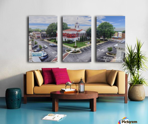 Searcy, AR | Courthouse Split Canvas print