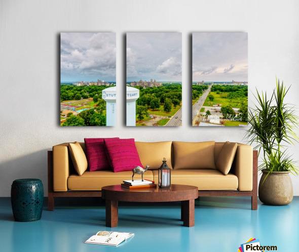 Stuttgart, AR | Water Tower Split Canvas print