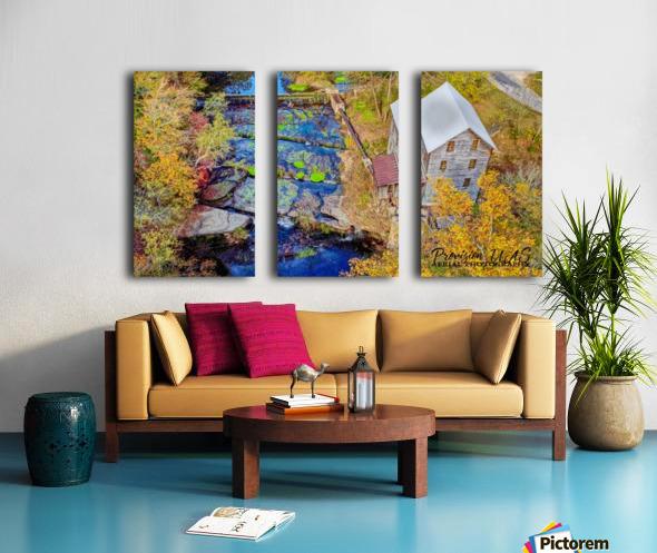 Leoma, TN | Wilburn Grist Mill Split Canvas print
