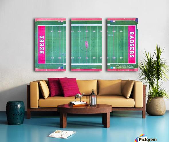 Beebe, AR | Badger Football Field Split Canvas print