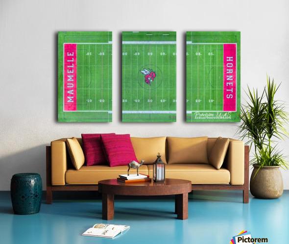 Maumelle, AR   Hornets Football Field Split Canvas print