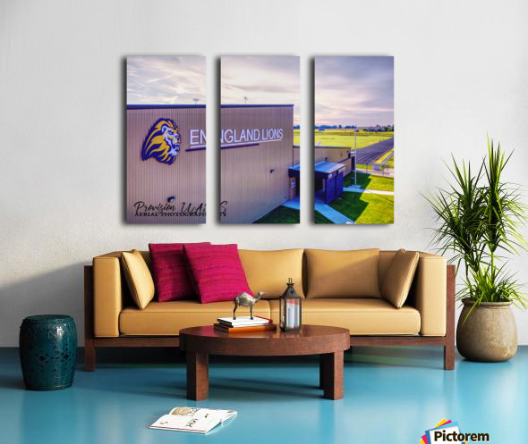 England, AR   Lions Field House & Stadium Split Canvas print