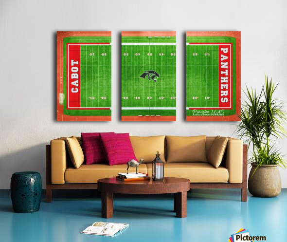 Cabot, AR | Panther Football Field Split Canvas print