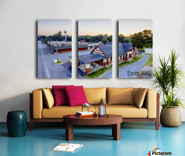 Carlisle, AR | Train Depot Split Canvas print