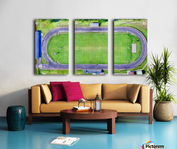 Hazen, AR   Hornets Football Arena Split Canvas print