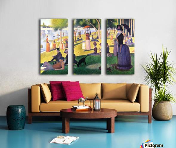 Sunday at La Grande Jatte by Seurat Split Canvas print