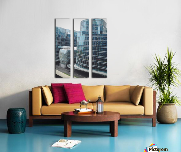 Landmark Split Canvas print