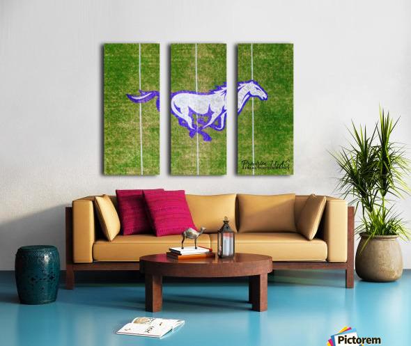 North Little Rock, AR | CAC Mustang Split Canvas print