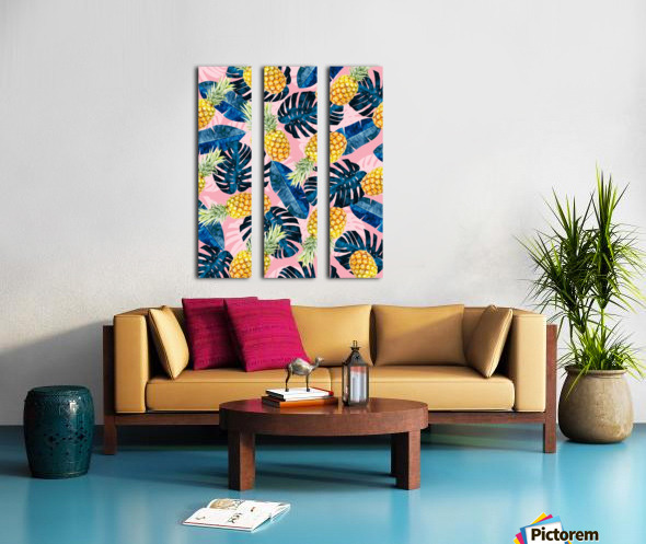Tropical and exotic pattern Split Canvas print