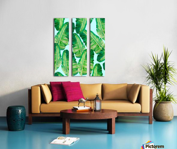 Tropical and exotic pattern II Split Canvas print
