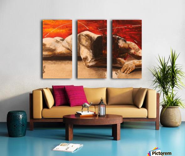 Mis à Nu Split Canvas print