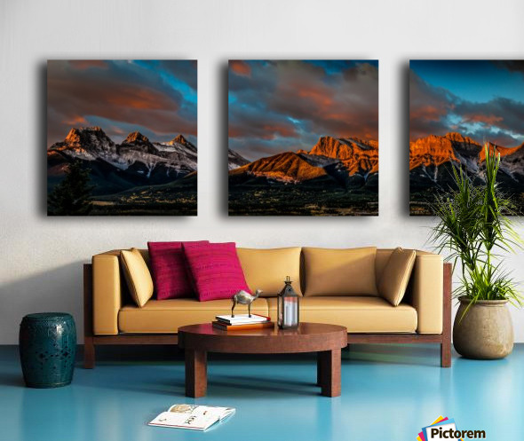 CanmoreSunrise Split Canvas print
